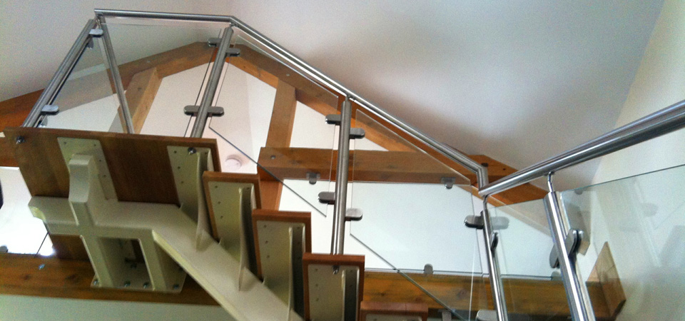 how to draw stairs balustrade