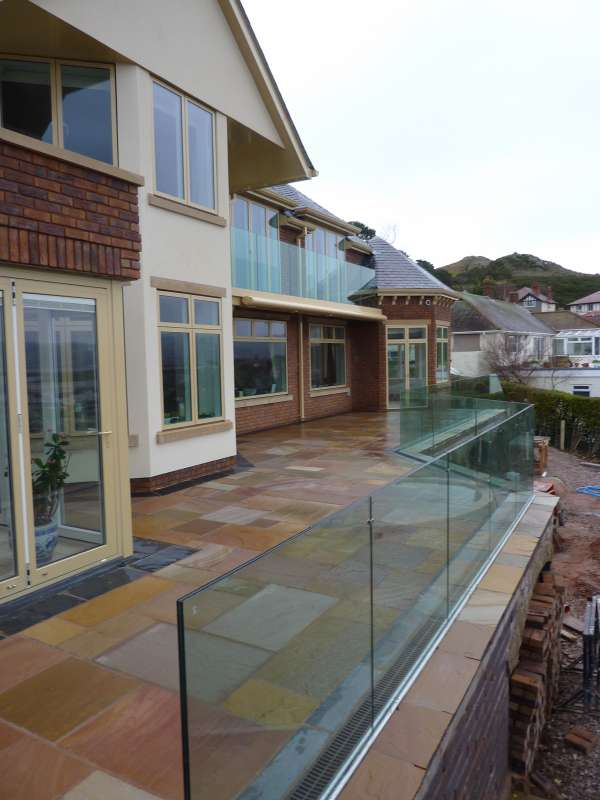 external glass balustrade projects by the glass balustrade co